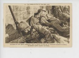 Les Combats De Fort De Vaux Juin 1916 - Heures De Lente Agonie Dans Les Galeries (cp N°17) - Guerra 1914-18