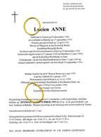 Monseigneur Lucien ANNE -- Temse 1906 - Belsele 1993 - Esquela