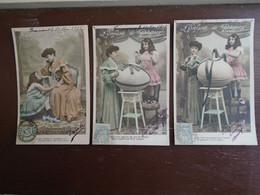 """5 Belles Cartes Assez Rare De 1905 , L'enfant De Pâques """""""" Cartes Animées Petit Fille Et Sa Maman """""""" - Easter"""