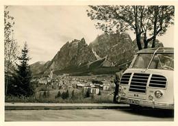 ITALIE AU REVOIR A CORTINA ET AUTOCAR PHOTO ORIGINALE 10 X 7 CM - Places