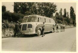 AUTOCAR ALLEMAND VOYAGE A GARDASEE ITALIE  PHOTO ORIGINALE  8.50 X 6 CM - Auto's