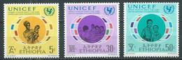 Ethiopie YT N°609-612-613 UNICEF Neuf ** - Etiopia