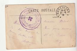"""Carte Dax Et Cachet """"Hôpital Auxiliaire N°86, Lazaristes,Secours Aux Blessés,Dax"""" 1915 - Covers & Documents"""