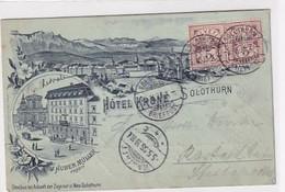 Solothurn - Hotel Krone - Vorläuferlitho - 1885 !! - Top     (P-332-10131) - SO Solothurn