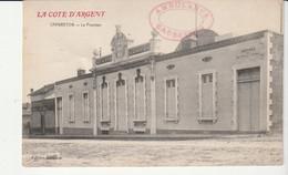 Carte Capbreton , Le Fronton Et Cachet Ambulance Capbreton - Covers & Documents