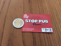 "AUTOCOLLANT, Sticker *** ""STOP PUB Merci - ADEME"" - Aufkleber"