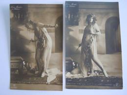 2 Cpa Artiste Femme Sexy Nina Barkis As Salomé Photo Gerlach Edit GG C° Ser 343/3 343/4 - Entertainers