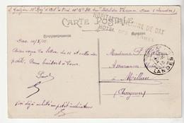 """Carte Dax / Place Animée Et Cachet """"Hôpital Auxiliaire  De Dax, Hôtel Des Thermes """", 1915 - Covers & Documents"""