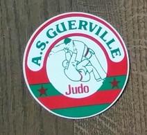 AUTOCOLLANT STICKER - A.S. GUERVILLE JUDO - SPORT - CLUB SPORTIF - ARTS MARTIAUX - YVELINES - Autocollants