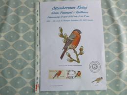 """BELG.2020 Goudvink - Bouvreuil Panceau : """" BUZIN ( A4) - 1985-.. Oiseaux (Buzin)"""
