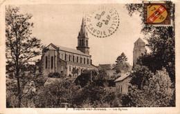 N°85457 -cpa Toulon Sur Arroux -les églises- - Altri Comuni