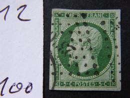 Napoleon  No 12  Signe  Ttb - 1853-1860 Napoléon III.