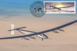FRANCE 2021 - Solar Impulse Carte Maximum - Ungebraucht