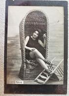 Romania - Buzau 1904 - Libraria Davidescu- Femeie La Plaja - CPR024 - Romania