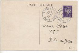 Carte Souvenir France Européenne Paris 1942 - Guerre De 1939-45