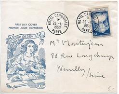 Enveloppe Premier Jour Marquise De Sévigné (Léger Pli Vertical) - 1950-1959