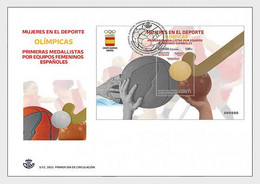 Spain 2021 Espagne Women In Sports OLYMPIC Medalists Hockey Basketball Ms1v FDC - FDC