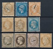 EB-175: FRANCE: Obl étoile 1 Sur N°21-22-23-28A-28B-29B-30(2)-58-59 - 1849-1876: Classic Period