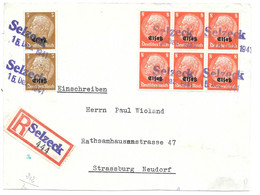 Moselle (Coin Sur Seille) TP Surch. Elsass Obl. Selzeck -  15.12.1941 - Elzas-Lotharingen