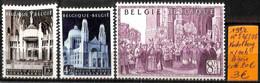 [834226]TB//*/Mh-c:20e-Belgique 1952 - N° 876/78, KOEKELBERG */mh Légère, Eglises Et Cathédrale - Ongebruikt