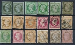 EB-180: FRANCE: Lot Obl  2ème Choix à Défectueux (obl Mal Frappées Court, Clair.. ) - 1853-1860 Napoleon III