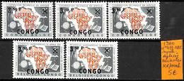 [836177]TB//**/Mnh-République Du Congo 1960 - N° 413-VAR, Surcharge Déplacée, Variantes - Republiek Congo (1960-64)