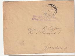 """Lettre En Franchise Militaire Et Cachet """" 18e Corps D'Armée, Hôpital Temporaire, Lycée Mont De Marsan"""", 1915 - Covers & Documents"""