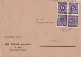Brief Alliierte Besetzung Ergste  über Schwerte Vom 6.6.1946 - Amerikaanse, Britse-en Russische Zone