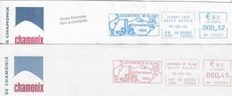 """2004/20010 Deux EMA Mairie De Chamonix """"ville Des Premiers Jeux Olympiques D'Hiver 1924"""" (n° HD 002194 / HP 111357) - Hiver 1924: Chamonix"""
