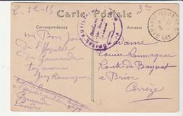 """Carte Soldats Belges En Tranchée Et Cachet """"Hôpital Auxiliaire  N°78, Gamarde , Landes"""", 1915 - Covers & Documents"""