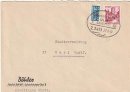 Toller Brief Alliierte Besetzung Franz. Zone Württemberg Riedlingen Bahnpoststempel Vom 27.9.1949 Steuermarke - Zona Francesa