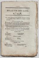 Bulletin Des Lois N°258 1819 Retraite Pensions Militaires Veuves (Clairian Pierre Sergent-tambour Le Luc Var...Poincaré) - Decretos & Leyes