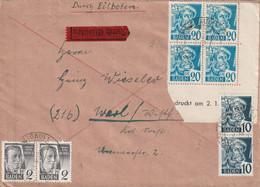 Toller Eilboten - Brief Alliierte Besetzung Franz. Zone Baden Freiburg 19.6.1948 Mit Eckrand Und Datum - Franse Zone