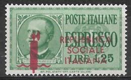 Italian Social Republic 1944, Scott #E1 (MH) King Victor Emmanuel III - Ongebruikt