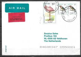 USED  AIR MAIL COVER KENYA TO NEDERLANDS BIRDS - Kenia (1963-...)