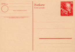 Postkarte Ganzsache Deutsche Post 1. Bundestag 1949 - Ongebruikt