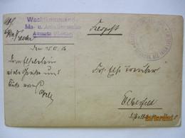 Lothringen, Wachtkommando Amalienzeche Aumetz, Feldpost 1916 (19164) - Weltkrieg 1914-18