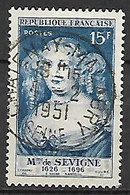 FRANCE    -     1950 . Y&T N° 874 Oblitéré.   Mme De Sévigné - Usati