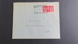 Letre Des Greves De Aout 1953 Cachet De La Chambre De Commerce De Fecamp  12/08/53 Pour Lillebonne - Scioperi