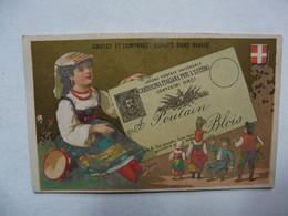 VIEUX PAPIERS - CHROMO : Chocolat POULAIN - Carte Postale ITALIE - Fable De LA FONTAINE - Poulain