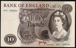 P379a / B326 * Bank Of England * £10 * Page * Prefix B47 * UNC - 10 Pounds
