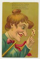 Carte Fantaisie Gaufrée (embossée) - Femme - Lettre - Pipelette Tu Es Hors D'haleine... - Humor