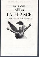 """(De Gaulle-RPR) Prospectus  """"la France Sera La France"""" + Bulletin De Souscription (PPP29982) - Historical Documents"""