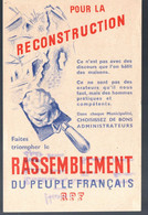 """(De Gaulle-RPR) Prospectus """"pour La Reconstruction"""" (élections Municipales) (PPP29983) - Historical Documents"""