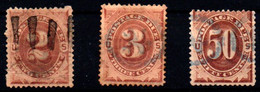 Estados Unidos (Tasas) Nº 2/3, 7. Año 1879 - Usados