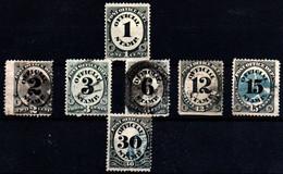 Estados Unidos (Servicio) Nº 67, 68/70, 72/3, 75 . Año 1873 - Usados