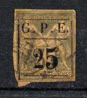 Guadeloupe Colonie  Française Oblitéré 25 Sur 35      Réparé - Usati