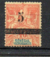 Sénégal  Colonie  Française  5 Sur 40   Rouge -orange - Usati