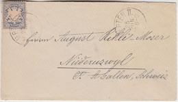 Bayern - 20 Pfg. Weite Welle Brief I.d. SCHWEIZ Kempten 1876 - Unclassified