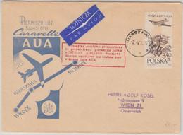 Österreich - AUA Erstflug Warschau - Wien 1964 Schmuckumschlag - Luchtpost